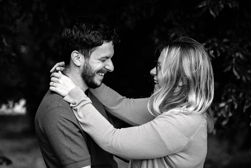 Big smiles at the engagement shoot - Cotswolds Wedding Photographer