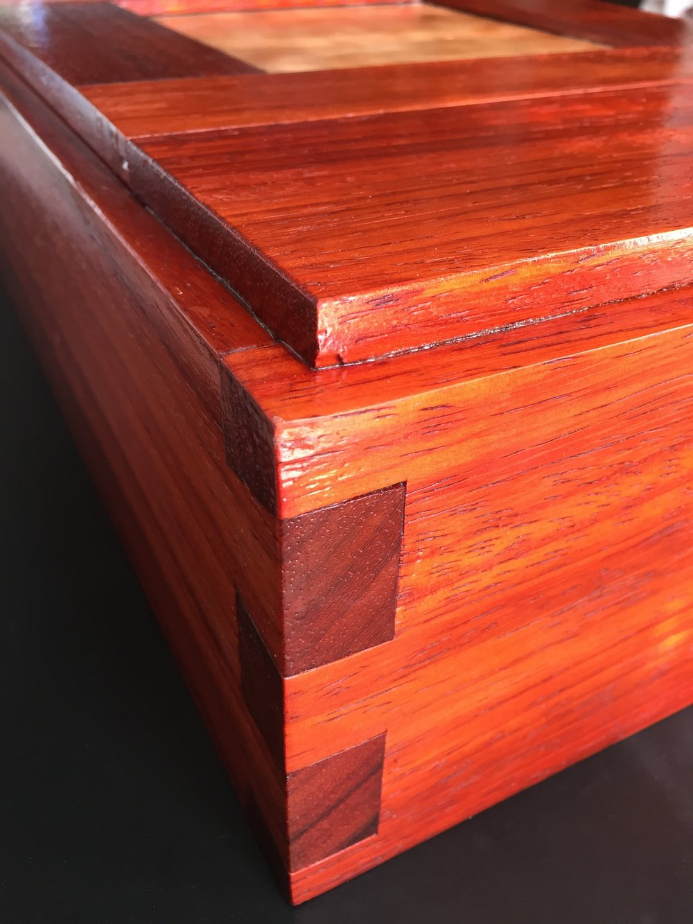 Padauk Tool Box Joints