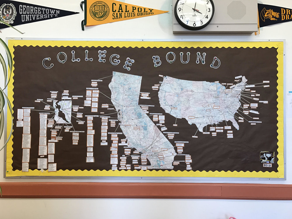 ASAP's map of colleges alum have gone off to.
