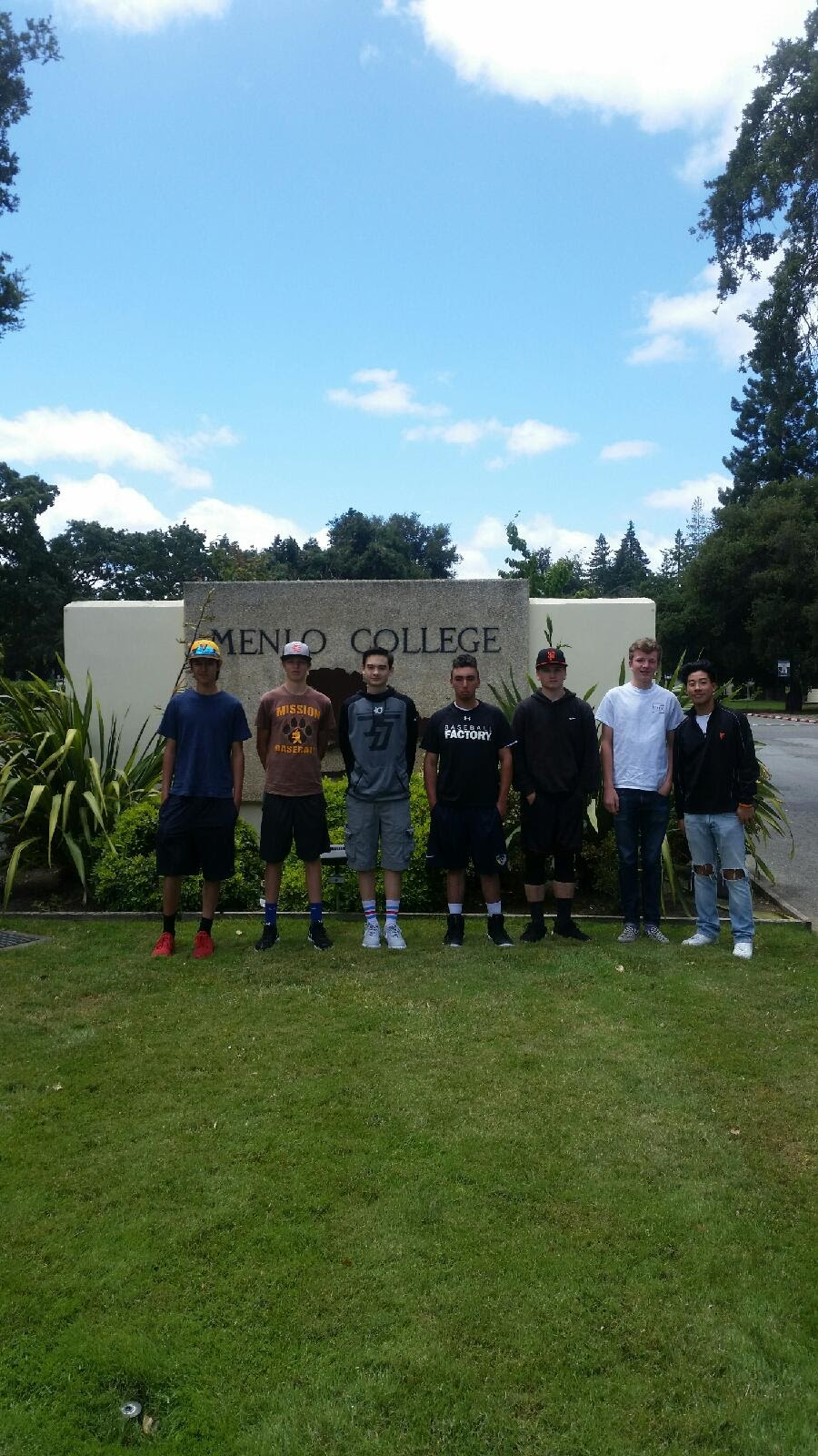 Baseball Camp @ Menlo College, Summer 2017