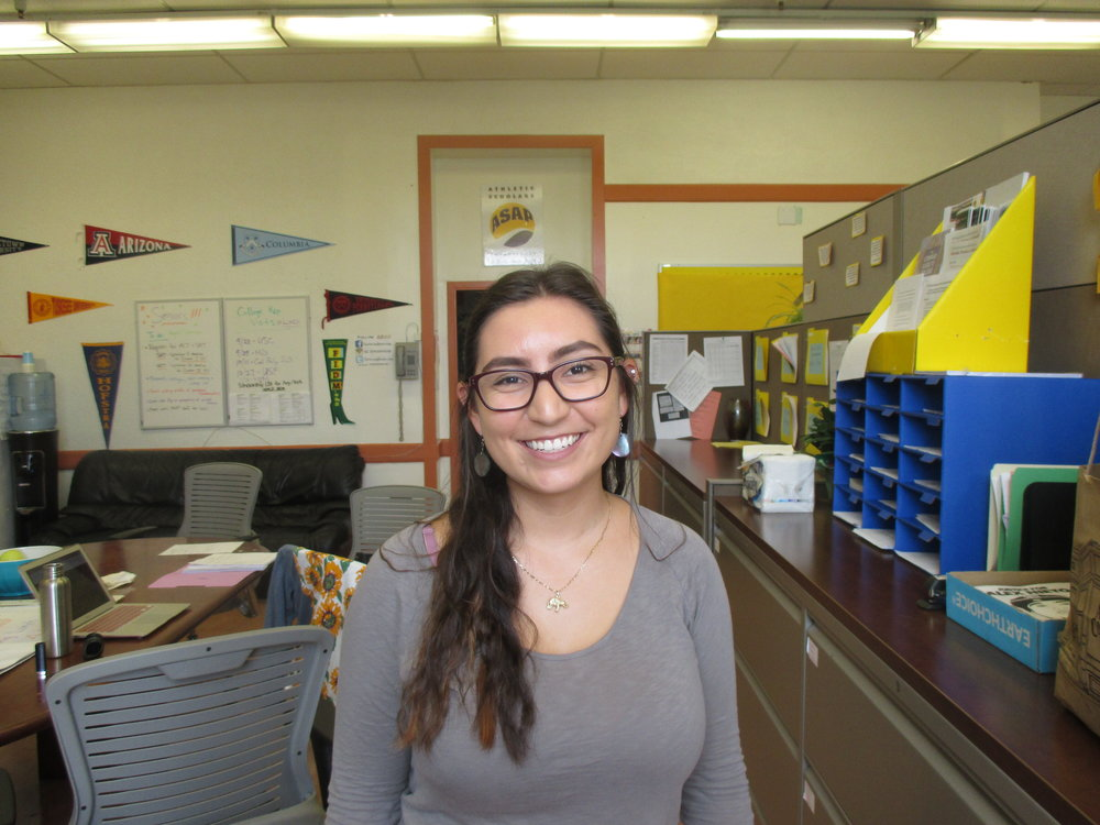 Amanda Zepeda is an SF State student in her final year, majoring in Latinx Studies and History, and minoring in Race and Resistance Studies. She was a volunteer last year, and is a College Success Advisor this year.