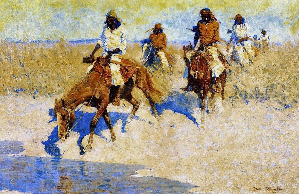 1907 Pool in the Desert, Oil on canvas, Hubbard Museum of the American West.