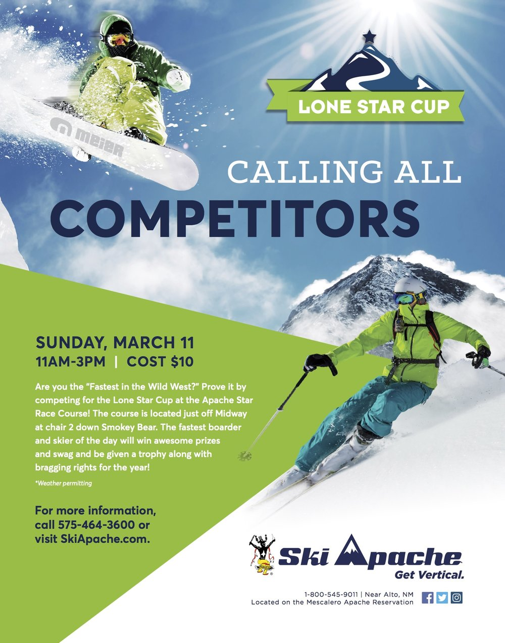 Lone Star Cup Competition at Ski Apache