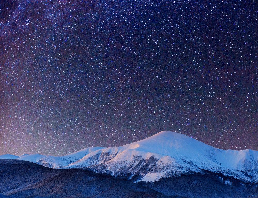 Ruidoso night sky. Star gazing.