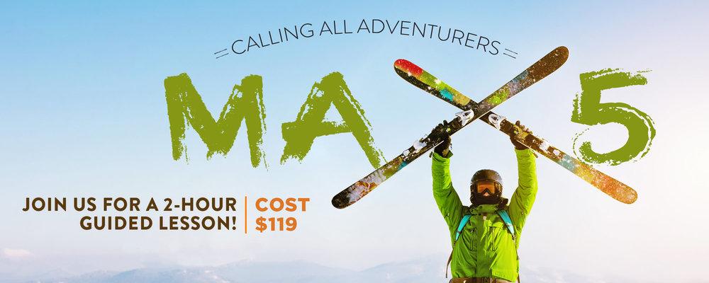 Max5 Learn to Ski, Ski Apache