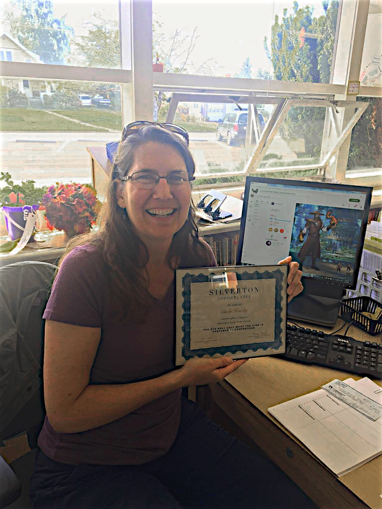 CINDY HAWLEY - SILVERTON MIDDLE SCHOOL TEACHER, CINDY HAWLEY RUNS THE ACADEMIC ASSISTANCE PROGRAM. A KEY SKILL THESE CHILDREN LEARN IN HER CLASS IS PERSISTENCE. MS. HAWLEY USES INNOVATIVE AND FUN TOOLS TO HELP KIDS PUSH THROUGH FAILURE. TWO OF THOSE TOOLS WILL BE FUNDED WITH THIS SILVERTON OPPORTUNITY GRANT -- BEAN BAG BALLS FOR JUGGLING, AND THE IMAGINATIVE GAME CALLED CLASSCRAFT.