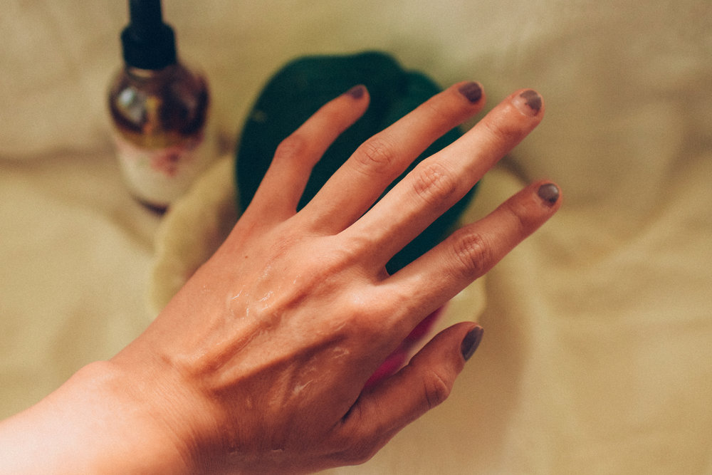 7.  Cuticle care - A basic oil or blend makes an excellent cuticle oil.  I like to use an oil blend all over my hands like a hand cream.  I gently work it into my cuticles before pressing them down if I'm doing my own manicure.