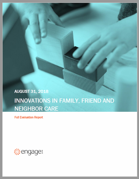 Packard FOundation: Innovations in FAmily, Friend, and Neighbor care