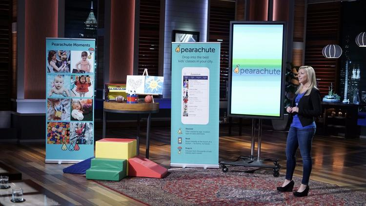 "Desiree Vargas Wrigley pitched her startup, Pearachute, on ""Shark Tank"". She landed a deal with investor Mark Cuban. (Michael Desmond / ABC)"