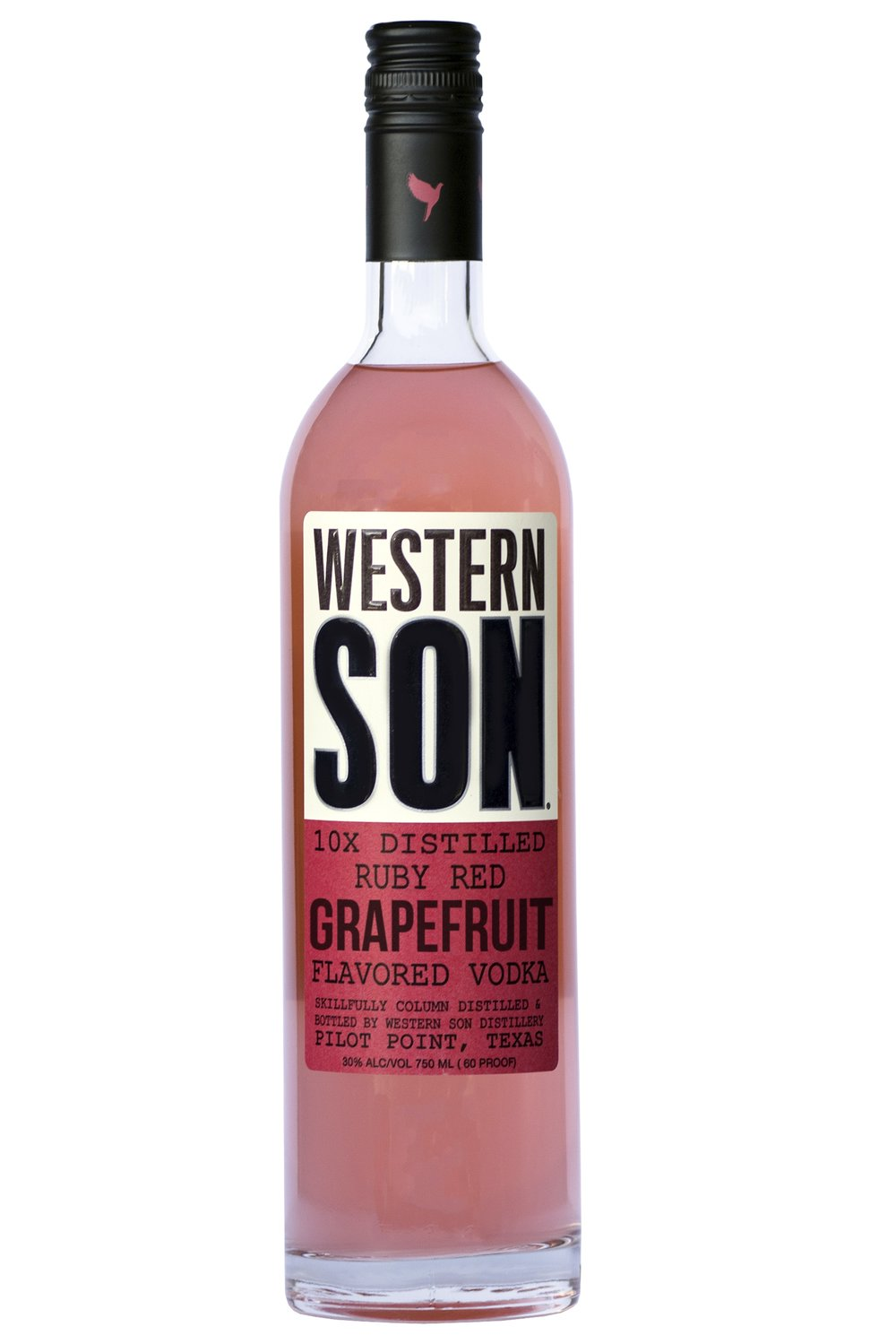 Ruby West  1 oz. Western Son Grapefruit Vodka 2 oz. club soda squeeze of lime