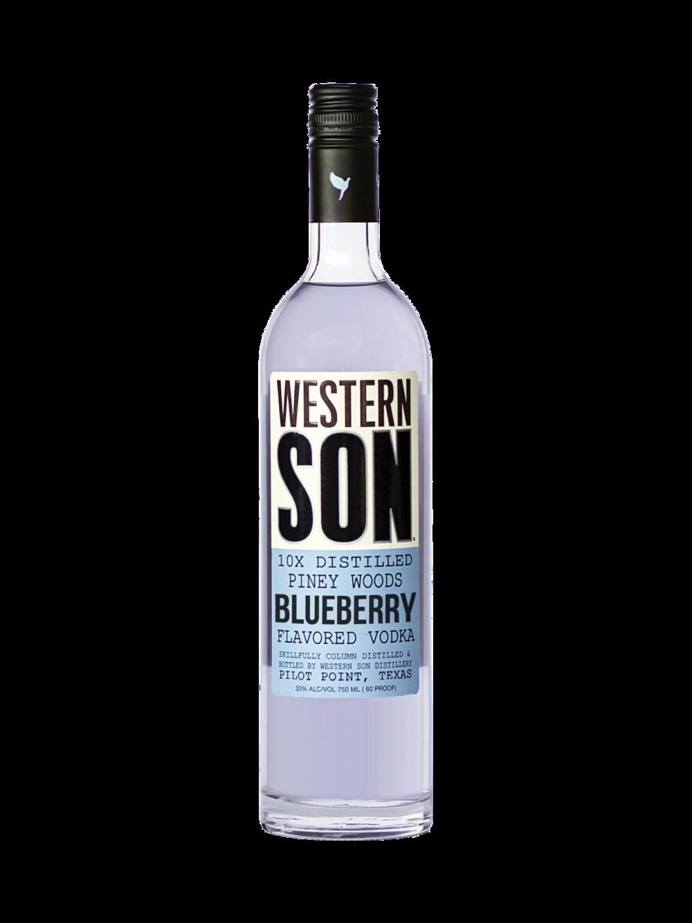 - Western Bluebonnet1 part Western Son Blueberry Vodka2 parts lemonadeSqueeze of lemonBlueberry Western Mule1 part Western Son Blueberry Vodka2 parts Western Son Ginger BeerSqueeze of lime