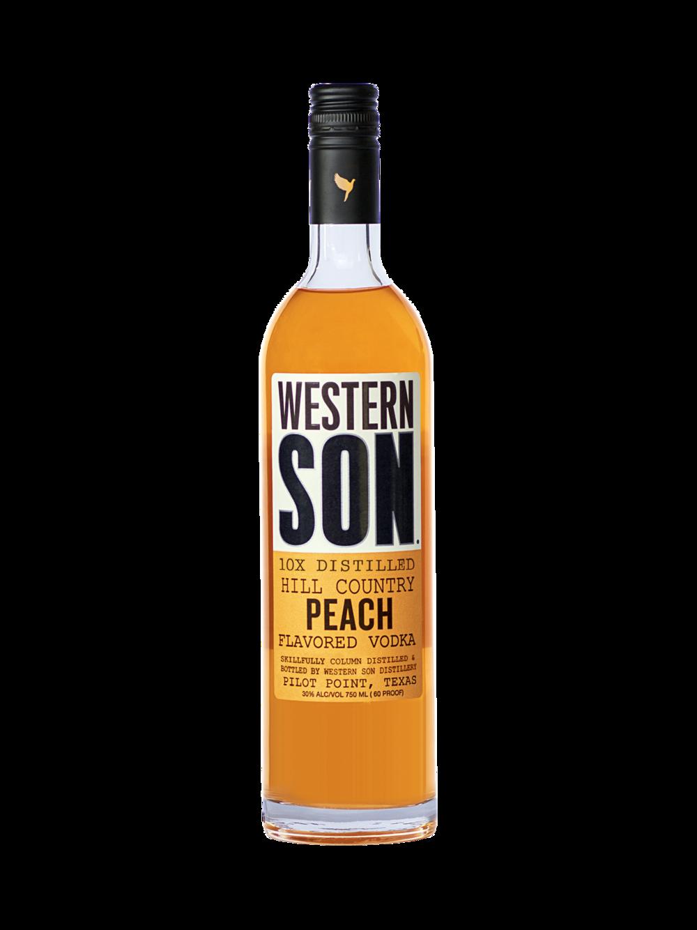 - Hill Country Tea1 part Western Son Peach Vodka2 parts unsweet teaSqueeze of lemonPeach Basil Western Mule2 parts Western Son Peach Vodka4 parts Western Son Ginger Beer2 basil leavesSqueeze of lime