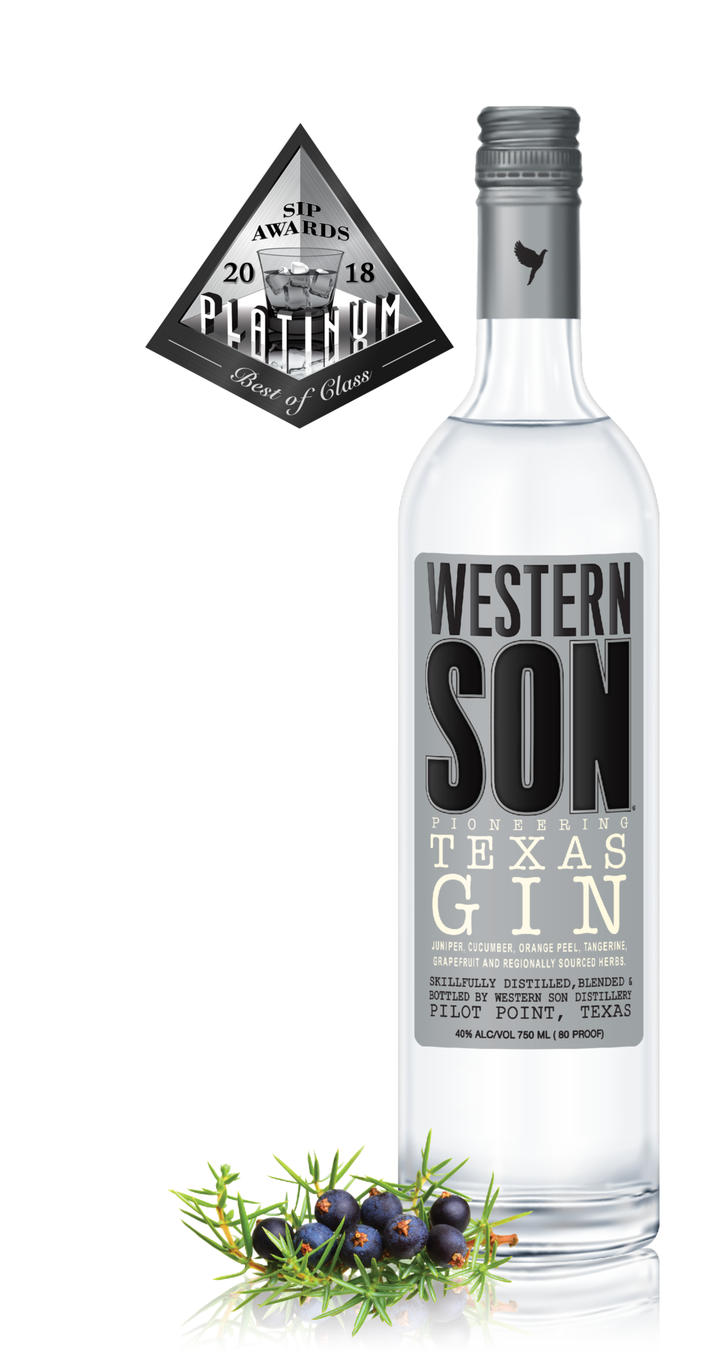 PIONEERING TEXAS GIN - Fresh juniper and bergamot fill the glass with hints of dried ruby red grapefruit, and black tea. A tasting finish that is lively and well balanced. Botanicals include juniper, cucumber, orange peel, tangerine, grapefruit, and herbs.Click for recipes