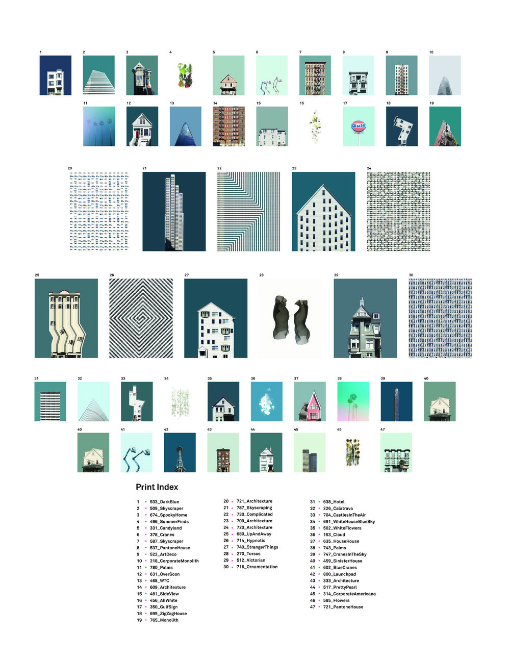 Print Collection Vol  1 — • Eric Randall Art + Architecture •