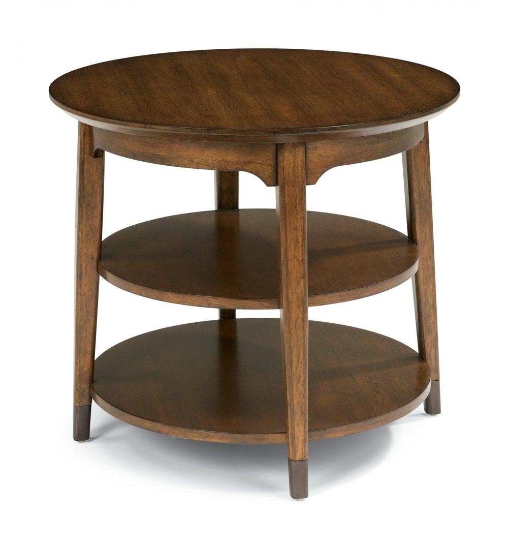 Flexsteel Gemini Round Corner Table