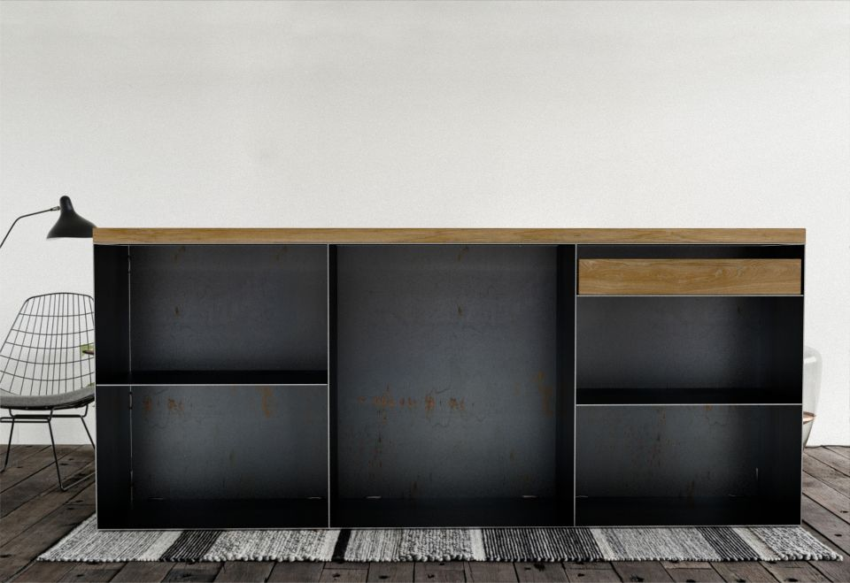 Sidebord Stahl -