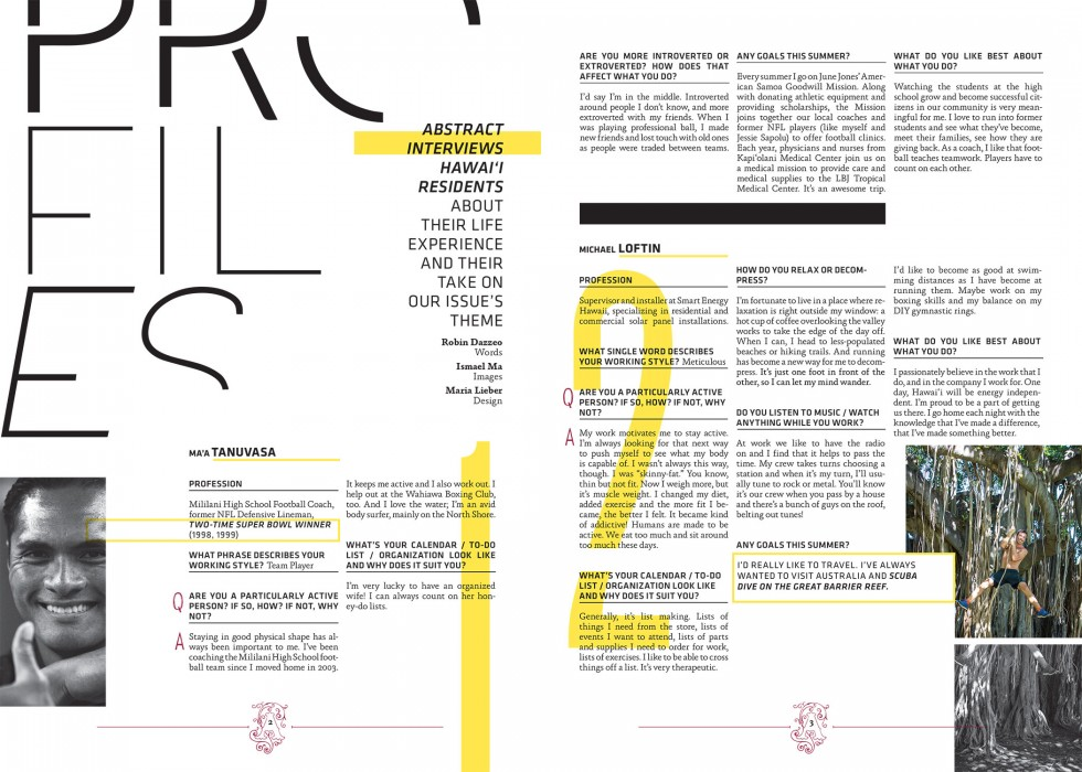 Abstract Magazine Layout