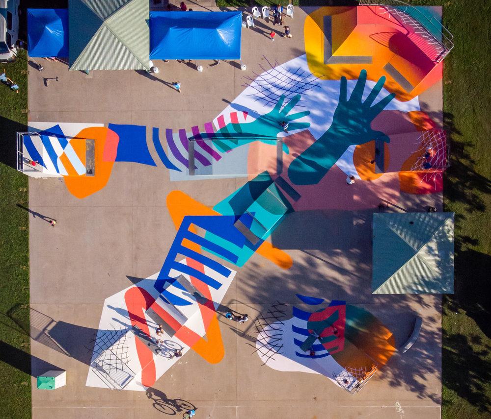 Brontë Naylor,  Up Top,  2018, Acrylic, 30 x 30m