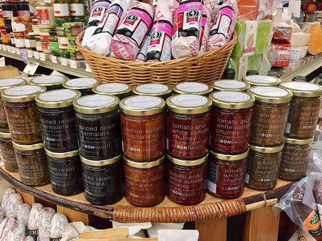 What a gorgeous display! 😍 #LeBonMagot is LIVE at @oliversmarket in #Windsor, California! Be sure to pop on by for a sample of our line of five innovative and unusual jams and preserves!