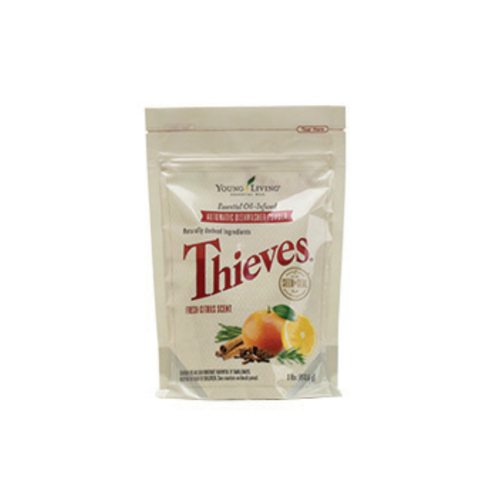 THIEVES AUTOMATIC DISHWASHER POWDER    Clean your dishes in the with this amazing powder! This formula effectively removes food, grease, oil, and other contaminants. Just add one scoop before turning the dishwasher on!   Click here   to read more extensively on this product.
