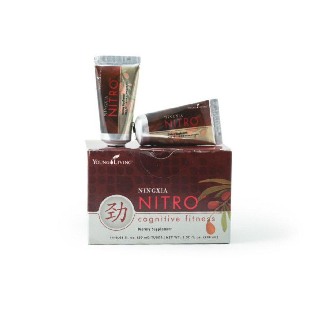 NINGXIA NITRO    NingXia Nitro® is a perfect pick-me-up without the sugar or caffeine overload. Infused with essential oils, botanical extracts, D-ribose, Korean ginseng, and green tea extract, NingXia Nitro supports alertness, as well as cognitive and physical fitness. Stash Nitro wherever you need it with its small, convenient packaging. It is loaded with antioxidants that support a healthy immune system. Add to your Ningxia Red or your Ningxia Zyng, or add drops of your favorite dietary essential oils.   Click here   to learn more about this product.