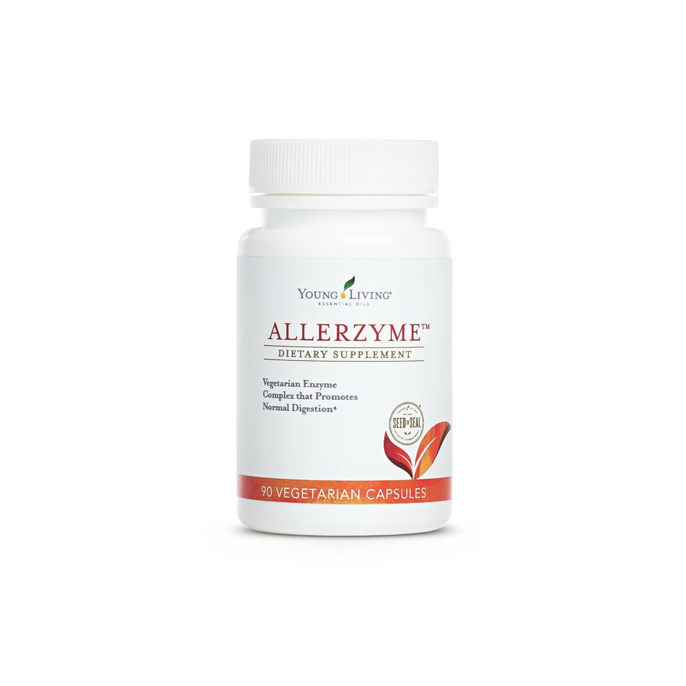 ALLERZYME    Enzymes are crucial for immune health. Allerzyme is a vegetarian enzyme complex that promotes digestion. This complex is great for the gut and healthy bathroom visits, but it's also an important supplement to be taking during weather changes for relief from seasonal irritants. This supplement is ideal for digestive, respiratory, and immune health.   Click here  to learn more about this product.