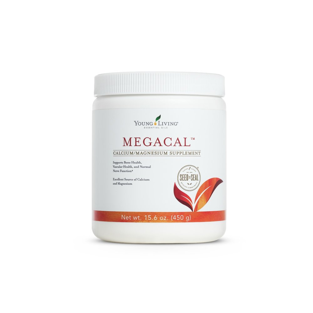 MEGACAL    MegaCal is a wonderful source of calcium, magnesium, manganese, and vitamin C. MegaCal supports normal bone and vascular health, as well as normal nerve function. It contains 207 mg of calcium and 188 mg of magnesium per serving. Take 1 scoop (1 tsp) (5g) with 1 cup (240 ml) of water or juice daily, one hour after a meal or taking medication or an hour before bedtime. Do not exceed 3 servings daily.   Click here   to learn more about this product.