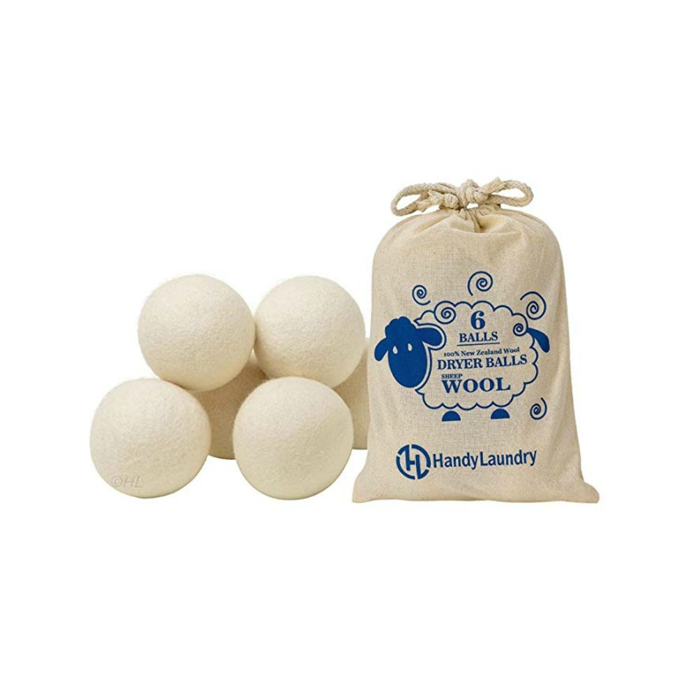 WOOL DRYER BALLS (Amazon)    Another popular option in replacement of toxic dryer sheets is wool dryer balls. Add at least 5 drops of your favorite smelling essential oil on each ball, place all of the balls in the dryer, and watch it freshen your clothes and remove static naturally. You can get these on amazon   here  .