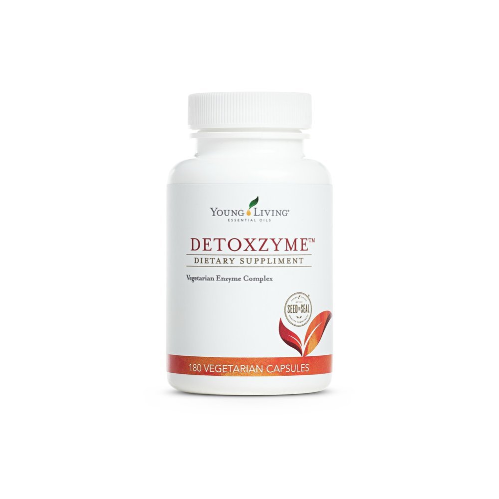 DETOXZYME    Detoxzyme®combines a myriad of powerful enzymes that complete digestion, help detoxify, and promote cleansing for the gut, liver, and kidneys. The ingredients in Detoxzyme also work with the body to support normal function of the digestive system, which is essential for maintaining and building health. Many people choose to take this supplement when they are looking for healthy weight management. Great for animals to be taking as well.   Click here   to learn more about this product.