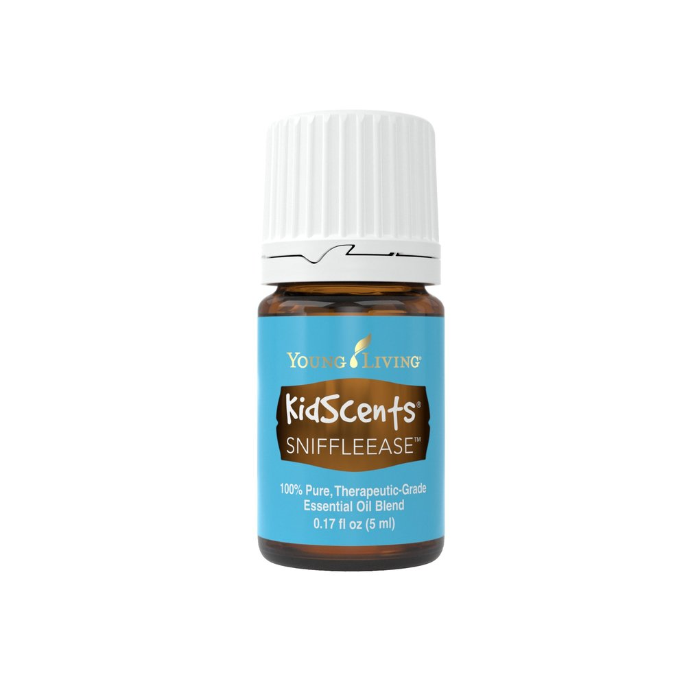 SNIFFLEASE ESSENTIAL OIL    SniffleEase is a rejuvenating and refreshing blend formulated just for your little ones. It's a popular one to diffuse and apply during winter months, or during seasonal changes. Since it is pre-diluted, it's great for sensitive skin. When applying, many moms like to apply on the bottoms of the feet, chest, spine, and under the nose.   Click here     to learn more about this product.