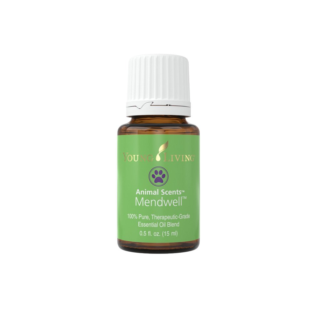MENDWELL ESSENTIAL OIL    Being active and playing outside, your pet can be exposed to many potential circumstances. That's why it's a great idea to have Mendwell Essential Oil on hand! This is a great blend to use topically on animals for healthy skin repair. This oil is also very calming, and can be used to keep your pet grounded emotionally after an active day. Carefully apply according to the size and species of animal. Dilute more for smaller species. A portion of all proceeds from Animal Scents products goes to support Vital Ground, a nonprofit organization dedicated to protecting the habitat of grizzly bears and other wide-roaming wildlife.   Click here   to learn more about this product.