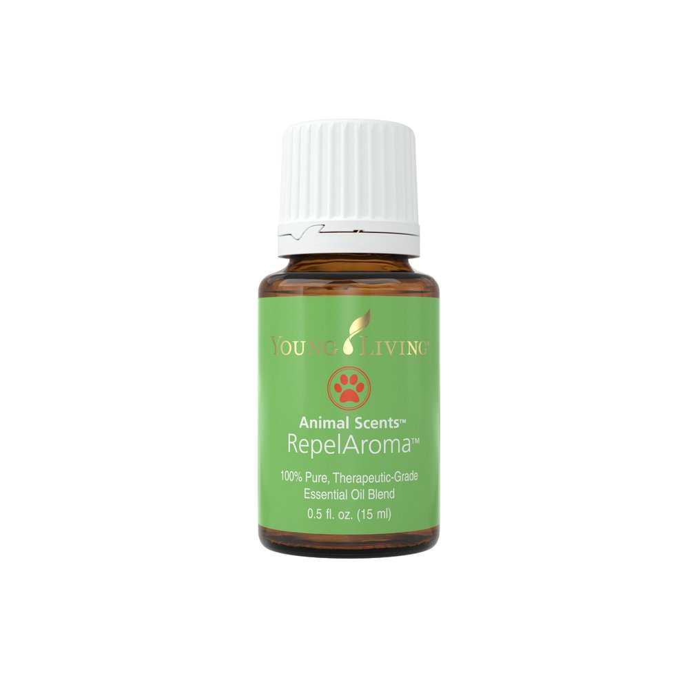 REPELAROMA ESSENTIAL OIL    With RepelAroma, a unique combination of purifying and invigorating Citronella, Idaho Tansy, Palo Santo, and Tea Tree essential oils, your pet will love being outside! It supports healthy skin, freshens and cleanses skin, and discourages irritation and outdoor annoyances. Many like to put drops in a spray bottle with water to spritz on their pet before going outside. Carefully apply according to the size and species of animal. Dilute more for smaller species. A portion of all proceeds from Animal Scents products goes to support Vital Ground, a nonprofit organization dedicated to protecting the habitat of grizzly bears and other wide-roaming wildlife.   Click here   to learn more about this product.
