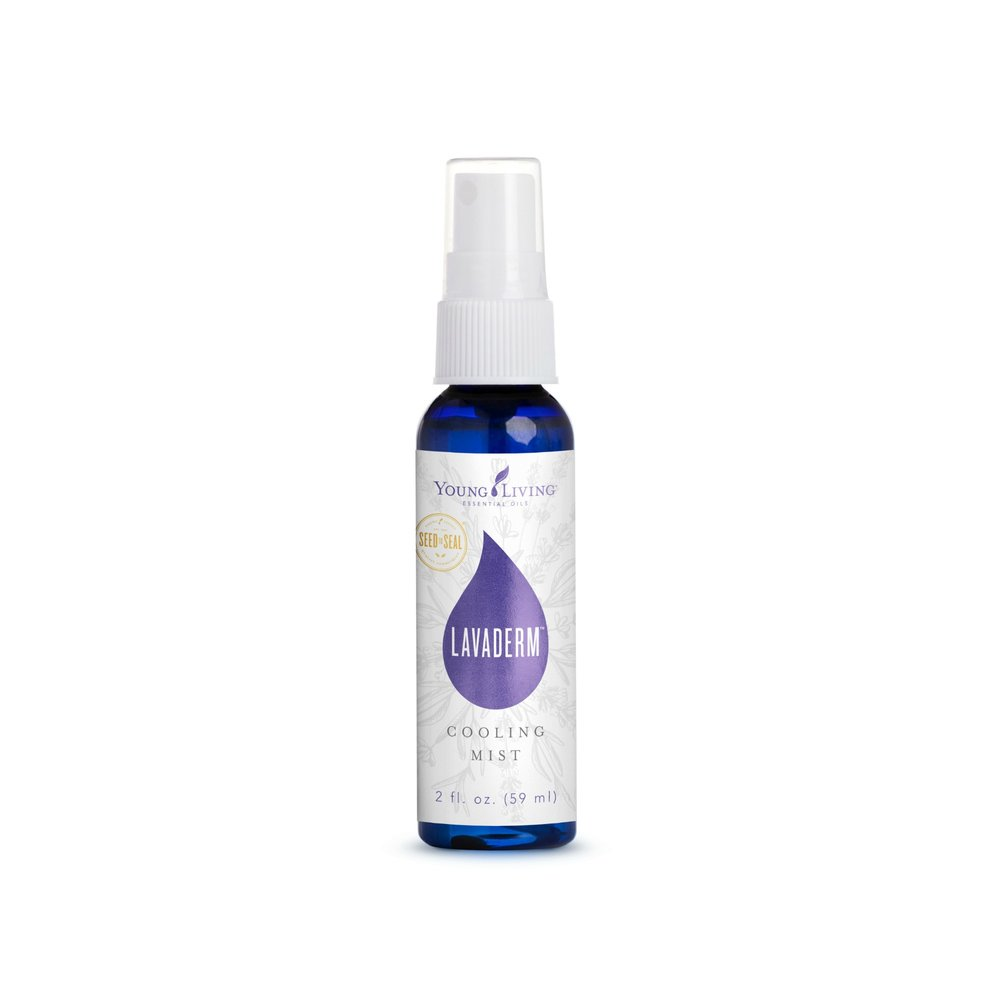LAVADERM COOLING MIST    Promote healthy skin with Lavaderm, Young Living's refreshing Lavender spray. It's made with skin-loving ingredients such as aloe, Lavender, Northern Lights Black Spruce, and Helichrysum to gently support healthy-looking skin. Its mild and gentle formula lightly moisturizes while also soothing and rejuvenating skin. This is a perfect mist to use on your pet as they play in the summer sun.   Click here   to learn more about this product.