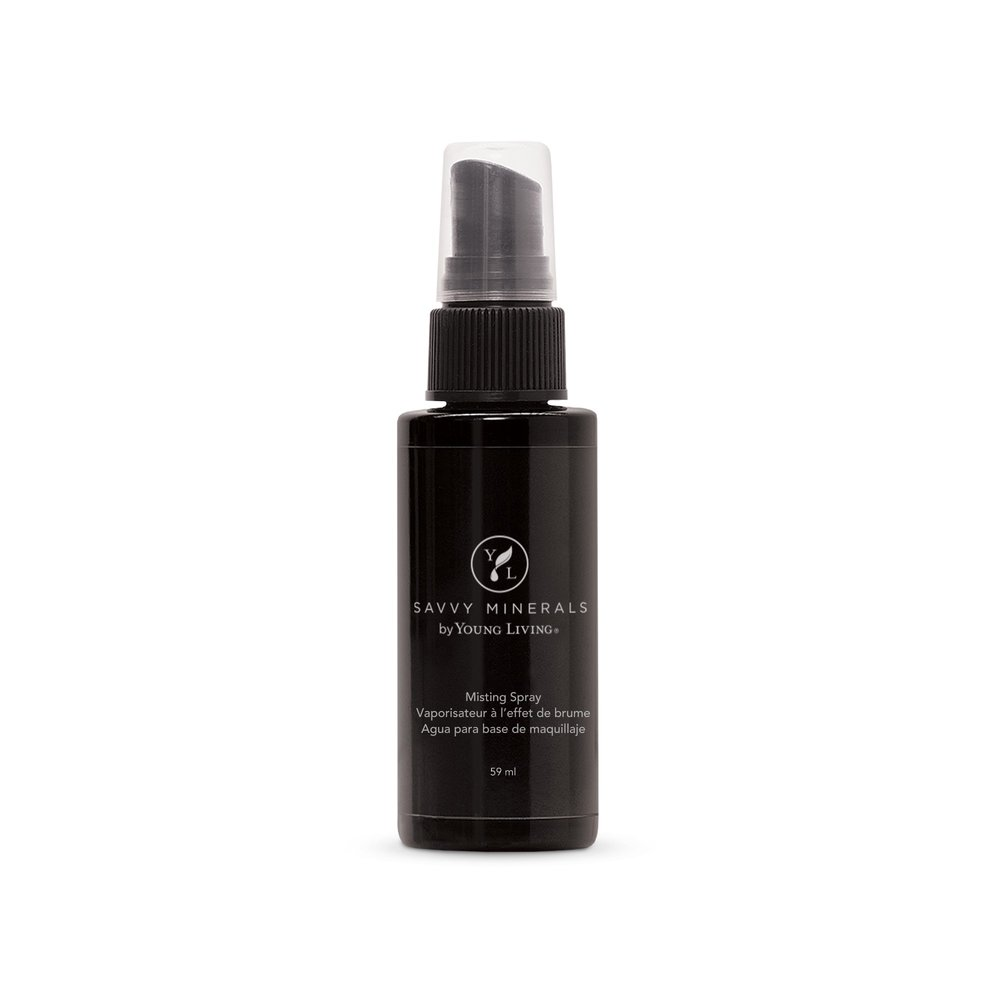 MISTING SPRAY    Take control of your makeup application with Savvy Minerals by Young Living's Misting Spray. Made with pure essential oils, trace minerals, and entirely plant-based ingredients, this Misting Spray gives you more thorough foundation coverage, all while nourishing and freshening your skin. The most popular way to use this is to spray on your foundation brush, dab brush into your foundation powder, and apply on the face in a circular motion. This product is also free of synthetic fragrances, colorants, alcohol, and parabens.   Click here   to learn more about this product.