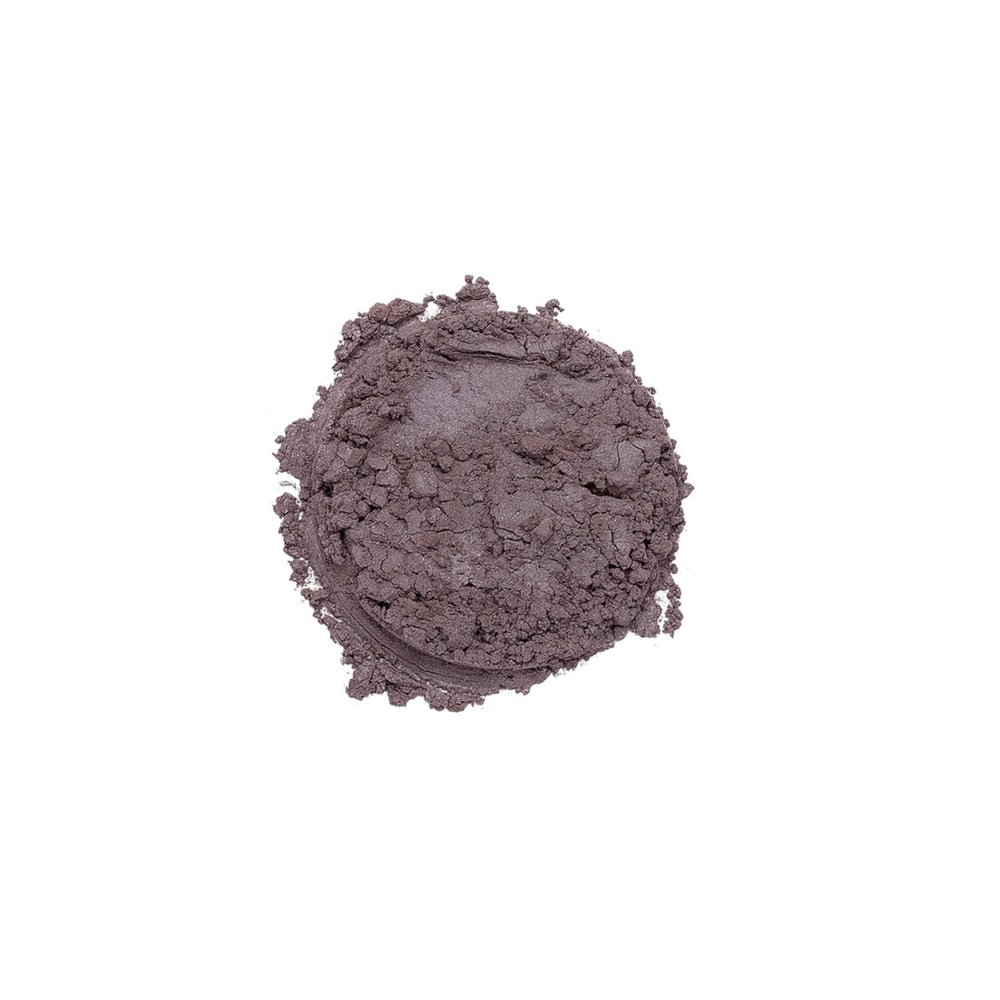 ENVY EYESHADOW    This shade is a shimmery gray violet color. Savvy Minerals eyeshadows are made with a finely ground mineral base, so they have a smooth, luxurious application and high-quality ingredients. They're formulated without fillers, synthetic fragrances, or parabens. Plus, its long-lasting formula leaves you with a gorgeous look you can wear all day.   Click here   to learn more about this product.