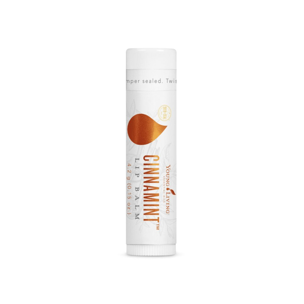CINNAMINT LIP BALM    Featuring pure Cinnamon Bark and Peppermint essential oils, Cinnamint Lip Balm helps prevent skin dehydration for soft, smooth lips. This lip balm is perfect for on the go, and leaves a long lasting moisture and protective barrier on the lips.   Click here   to learn more about this product.