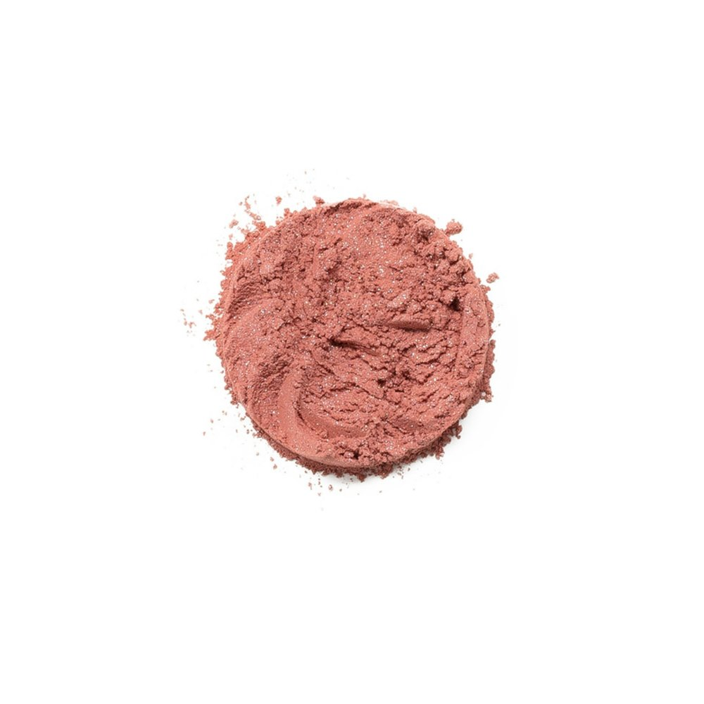 AWESTRUCK    Awestruck is a soft pink color with shimmer. Whether you're looking for romantic rosiness or youthful luminosity, give your skin a healthy glow with Savvy Minerals by Young Living Blush. This long-lasting blush is made with mineral-based ingredients and provides the perfect flush. It builds and blends beautifully, allowing you to create a radiant, natural-looking flush that suits your skin tone. All of these blush colors are ideal for sensitive skin.   Click here   to learn more about this product.