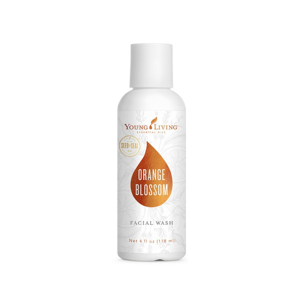ORANGE BLOSSOM FACIAL WASH    Energize your beauty routine with Young Living's Orange Blossom Facial Wash. Made from 100 percent naturally derived ingredients, this face wash for sensitive skin reduces surface oils and removes dirt and makeup without making your skin feel overly dry or tight. It's a hypoallergenic, gentle face wash for oily skin and leaves behind no pore-clogging residue, so it will perfectly complement your daily skin care regimen. Works best when paired with the Orange Blossom Moisturizer.   Click here   to learn more about this product.