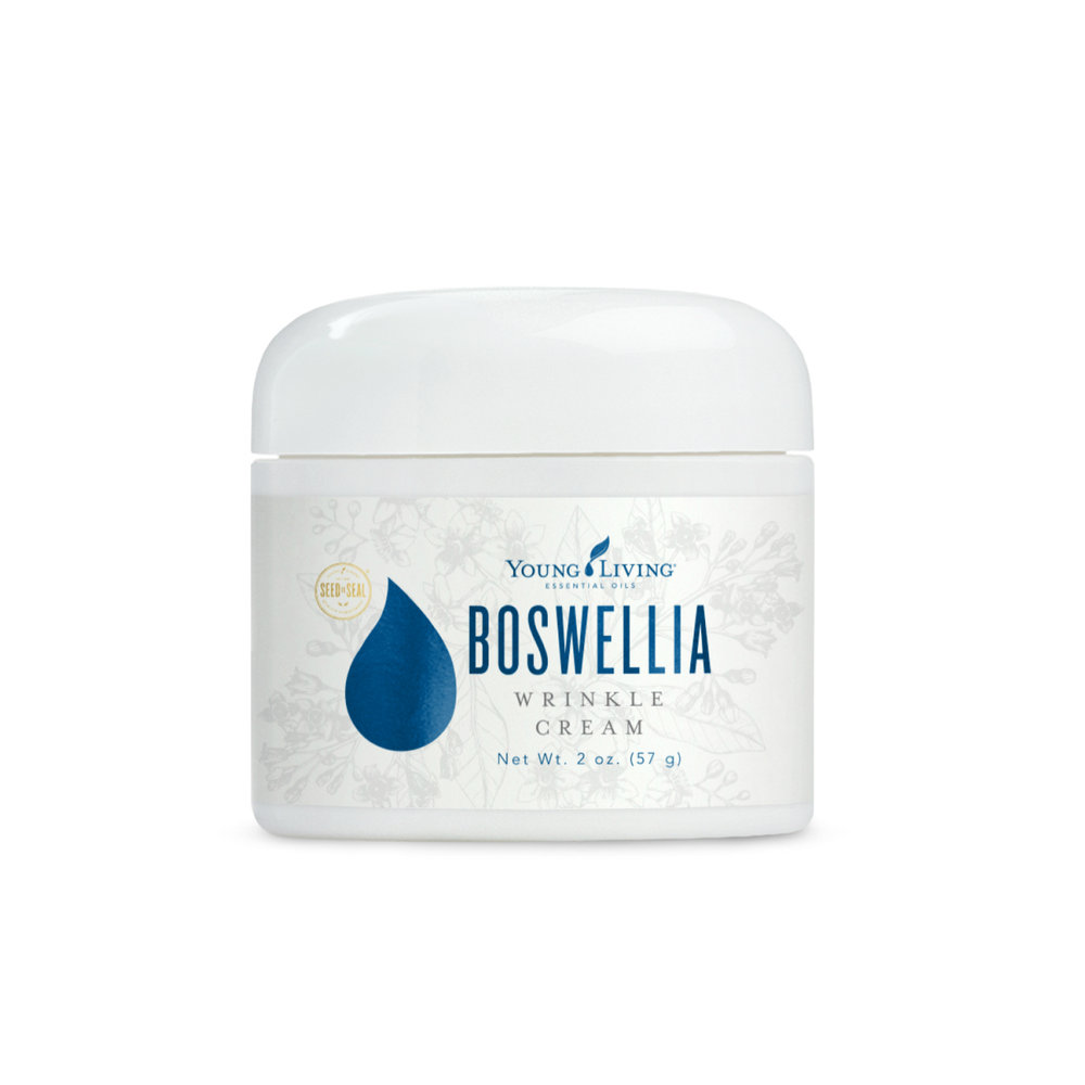 BOSWELLIA WRINKLE CREAM    Boswellia Wrinkle Cream contains pure essential oils like Frankincense and Sandalwood that moisturize the skin while minimizing shine and reducing the appearance of fine lines. This product is great for those with aging skin, or for those who want a firmer appearance to the skin. Daily use is encouraged!   Click here   to learn more about this product.