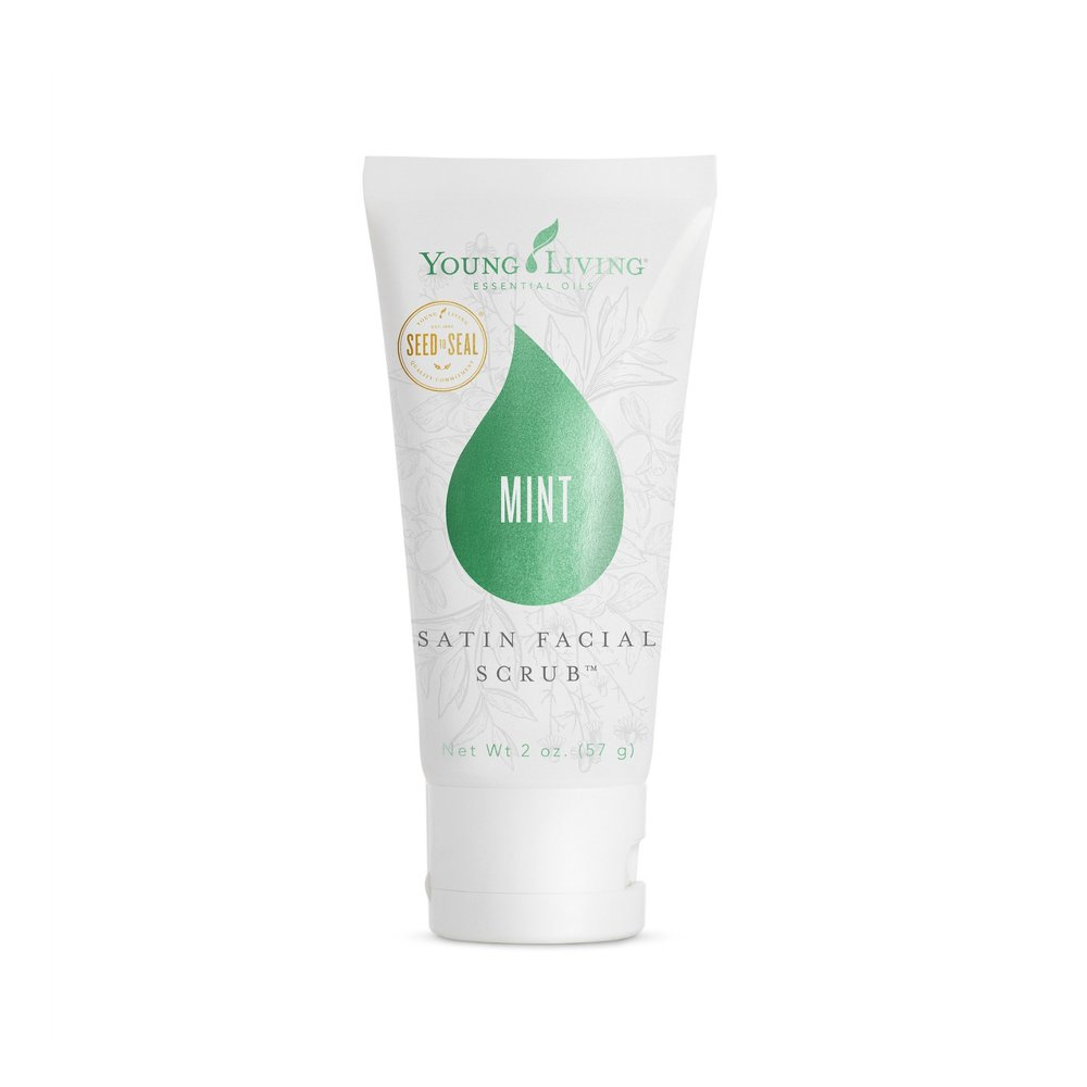 SATIN FACIAL SCRUB - MINT    Polish and prep your skin with this naturally derived exfoliator! This is the perfect step to take before going through your skin care routine. Made with apricot seed powder, this product gently lifts and removes dry, dead skin cells to reveal bright and even-looking skin. Plus, it has pure Peppermint essential oil for a minty scent and tingly fresh feel.   Click here   to learn more about this product.