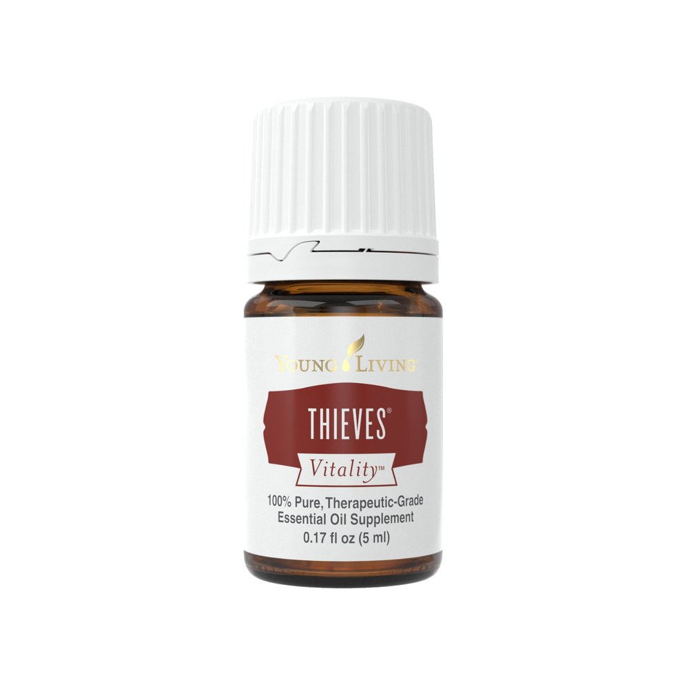 THIEVES VITALITY    Thieves Vitality essential oil blend combines Lemon, Clove, Eucalyptus Radiata, Cinnamon Bark, and Rosemary essential oils to create one of YL's most popular products. These ingredients work together synergistically to offer one of the key benefits of Thieves Vitality: overall wellness and support for a healthy immune system. Its sweet, spicy flavor from oils such as Clove, Lemon, and Cinnamon Bark give a comforting seasoning to warm food and drinks.   Click here   to learn more about this product.