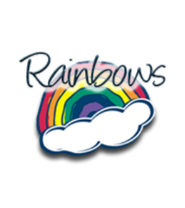 Wednesdays - Rainbows Club is for boys and girls ages 3-5. Noah's Ark provides an exciting theme for the Bible stories, crafts, full-color activity pages and games. Rainbows add colorful animal badges to their vests as they complete requirements for the achievement program.