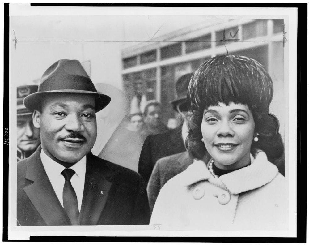 Hiller, H., photographer. (1964) Dr. & Mrs. Martin Luther King Jr., head-and-shoulders portrait, facing front / World Telegram & Sun photo by Herman Hiller. , 1964. [Photograph] Retrieved from the Library of Congress, https://www.loc.gov/item/96516151/.