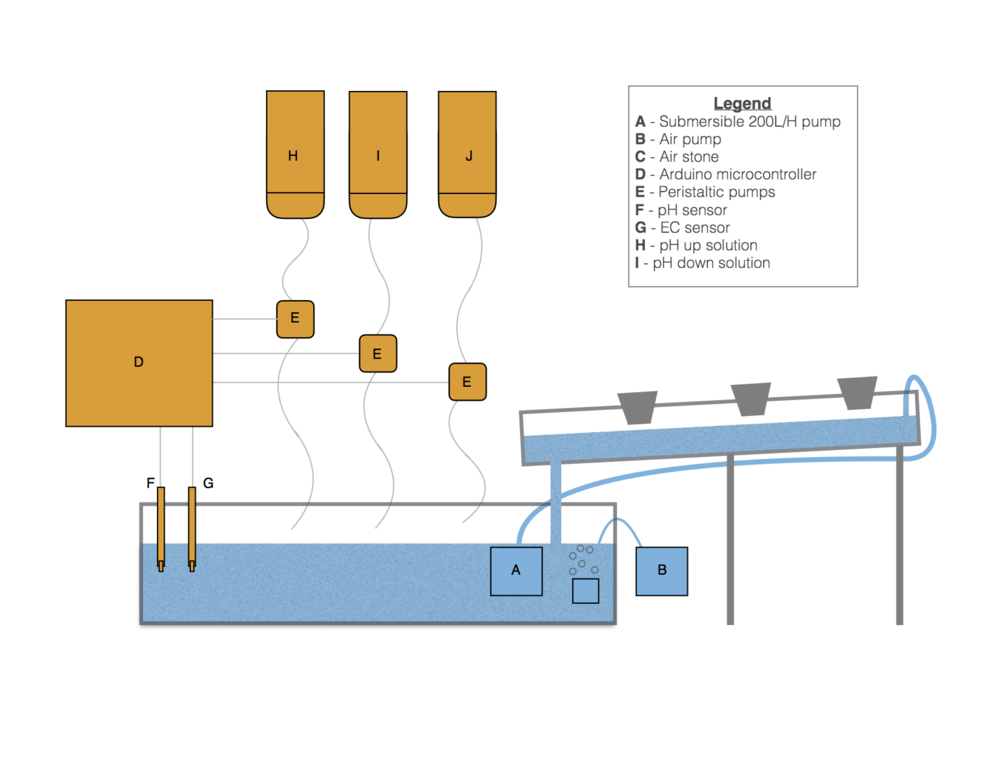 Overview of the our hydroponic system
