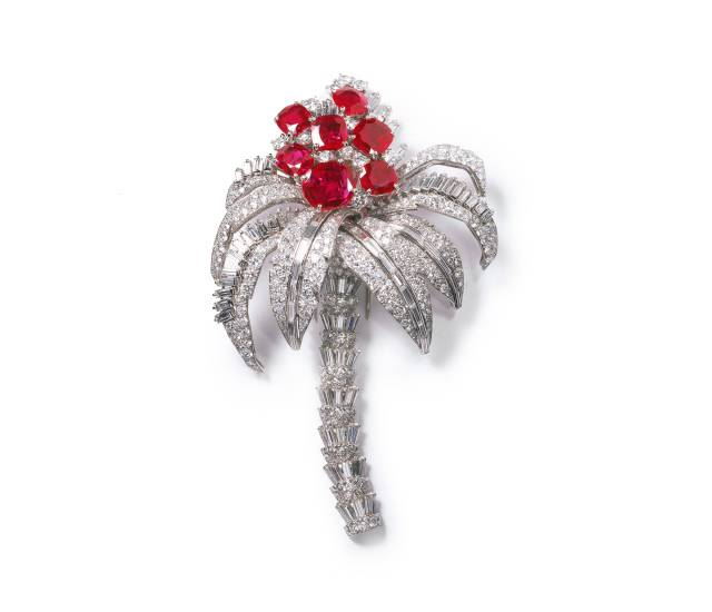 Palm Tree Brooch, 1957 - Photo : N. Welsh, Collection Cartier © Cartier