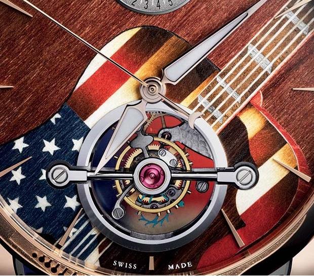 Parmigiani Tonda Woodstock Marquetry Dial Closeup