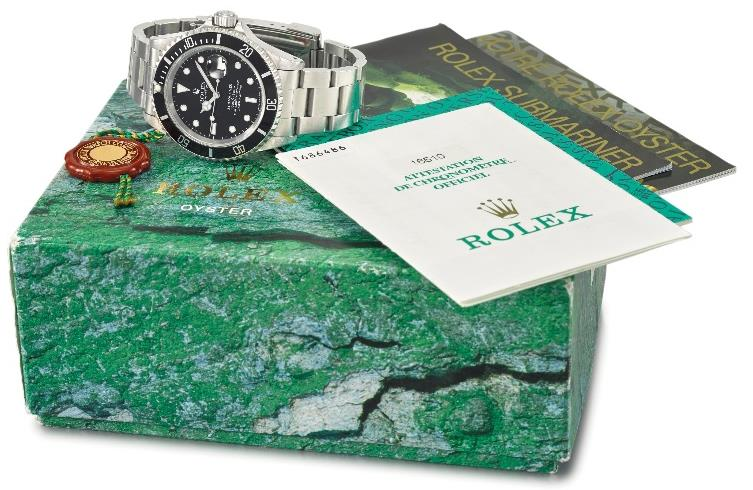 "ROLEX. A STAINLESS STEEL AUTOMATIC WRISTWATCH WITH SWEEP CENTRE SECONDS, DATE, ENGRAVED CASE BACK, BRACELET, MADE FOR THE COMEX ""OPERATION EVEREST"" EXPERIMENT, OYSTER PERPETUAL DATE, SUBMARINER, 1000FT = 300M, REF. 16610, CIRCA 1997"