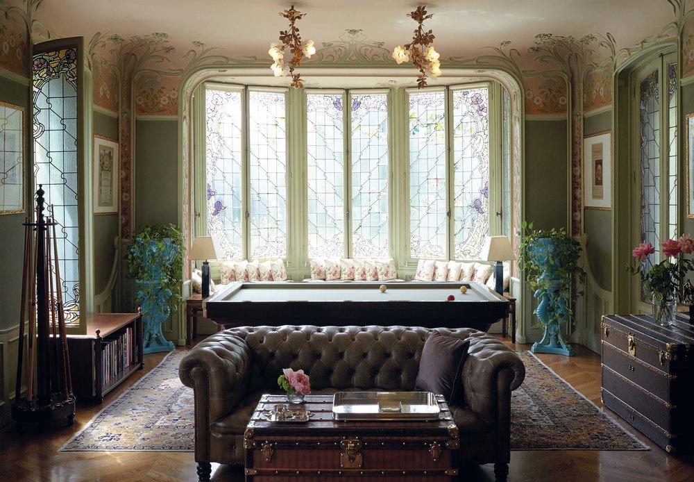 La Maison de famille Louis Vuitton, Asnieres, 2015 : le salon.