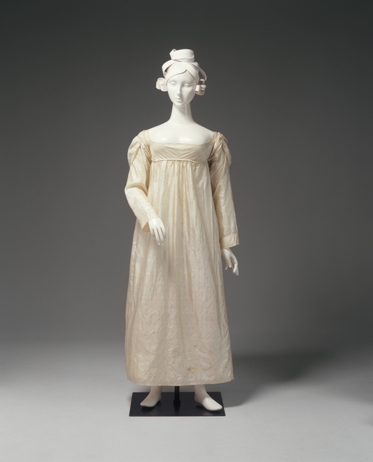 Worn by Ann Marsden , married in1822.