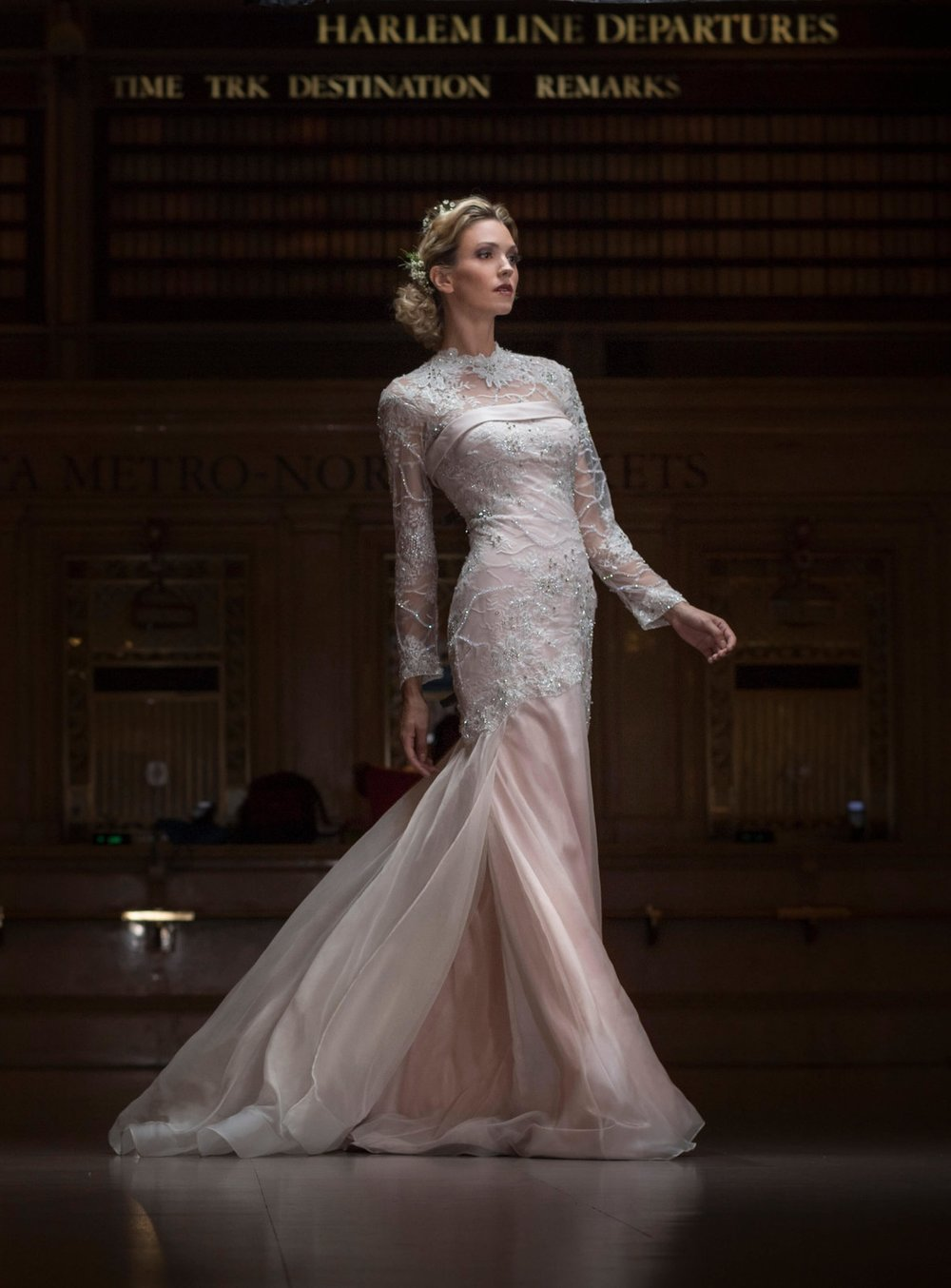 The Aurora Gown without its peplum organza skirt